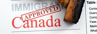 An approved Canadian immigration form