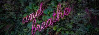 and breath text on foliage