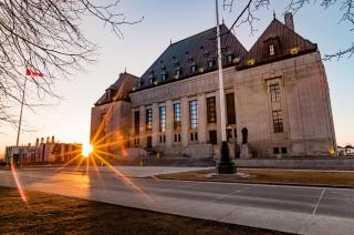 The Supreme Court of Canada at sunset