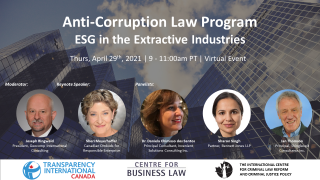 Anti-Corruption Law Program - ESG in the Extractive Industries